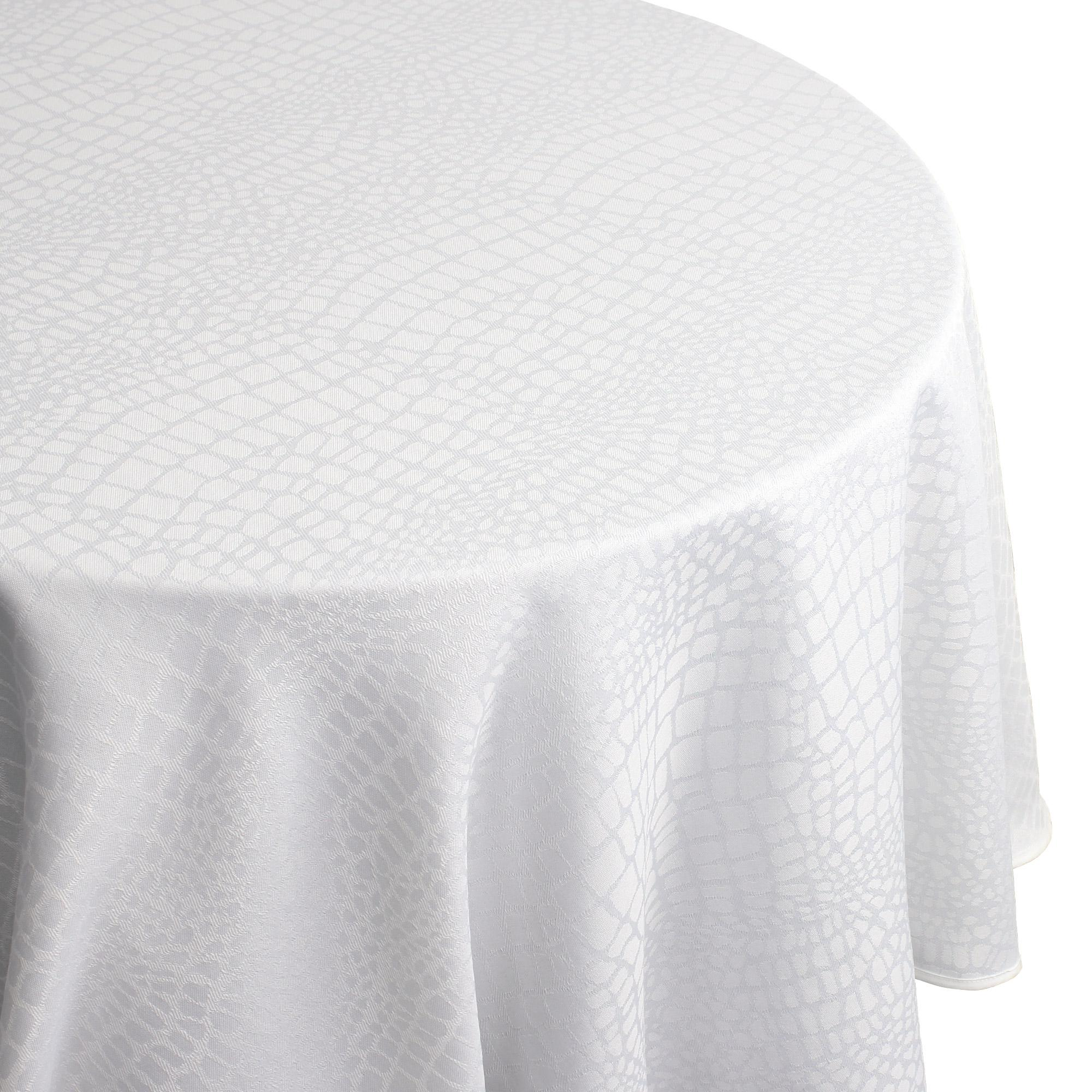 Nappe Blanche Tissu Nappe Ovale 180x300 Cm Jacquard 100 Polyester Lounge Blanc