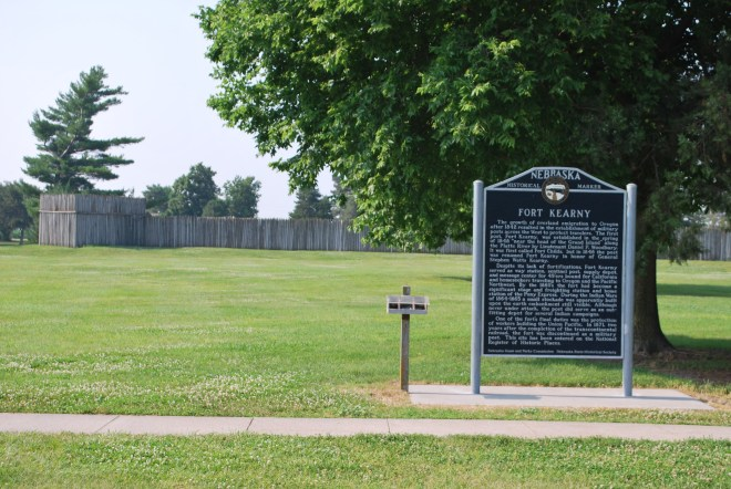 Fort Kearny...an early stop along the trail for supplies.