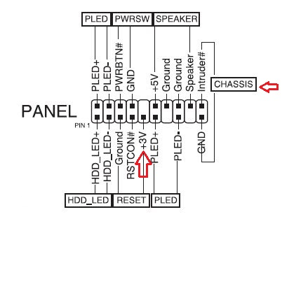 asus front panel connector diagram
