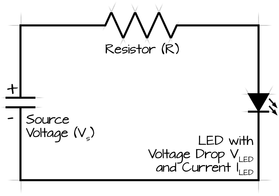 led current and resistance calculator diagram