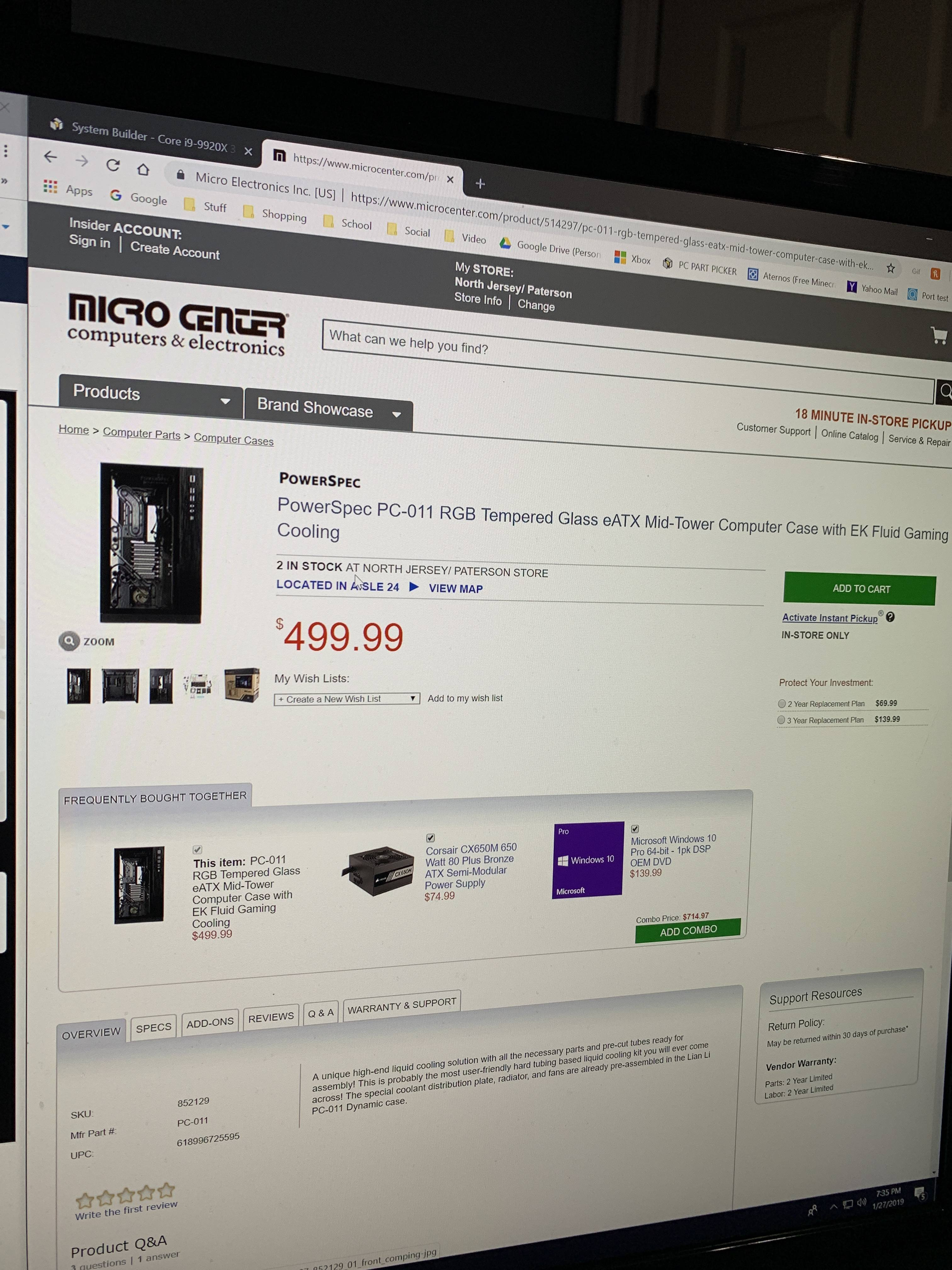 Computer Online Store The Ek Pc O11 Is Listed On The Online Store For Micro Center