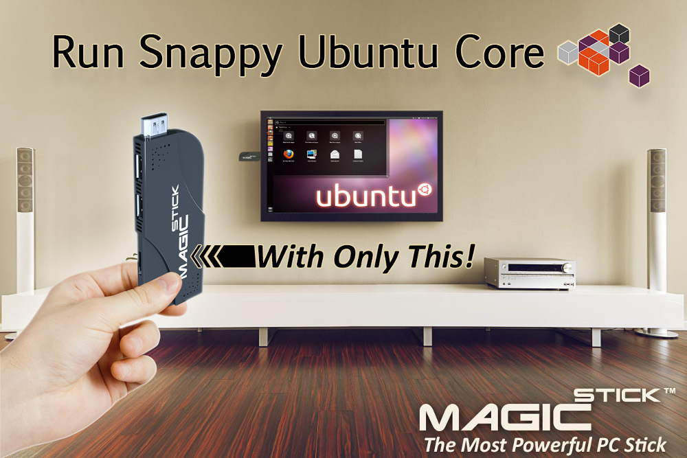 Cherry Trail stick-PC supports Android, Ubuntu Snappy