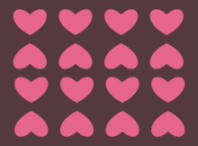 corazones y chocolates