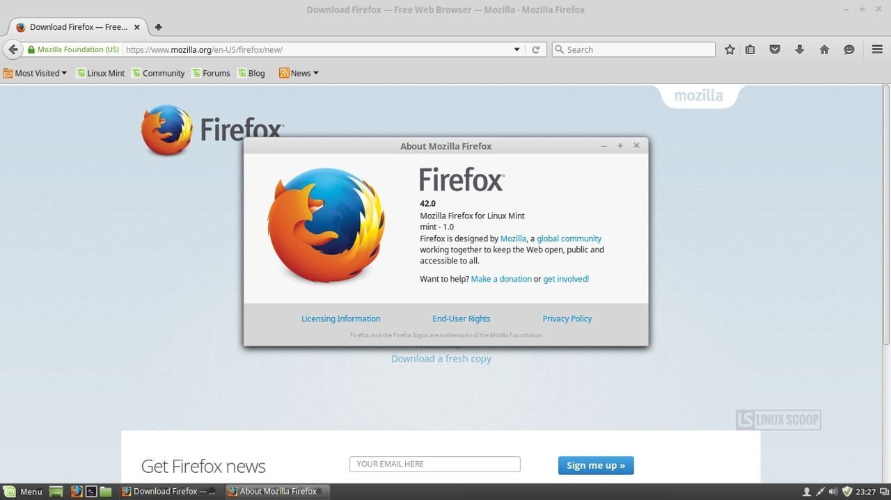 Linux mint 17 3 cinnamon firefox browser linux scoop Linux browser