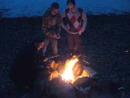 Bonfire on Loch Fyne