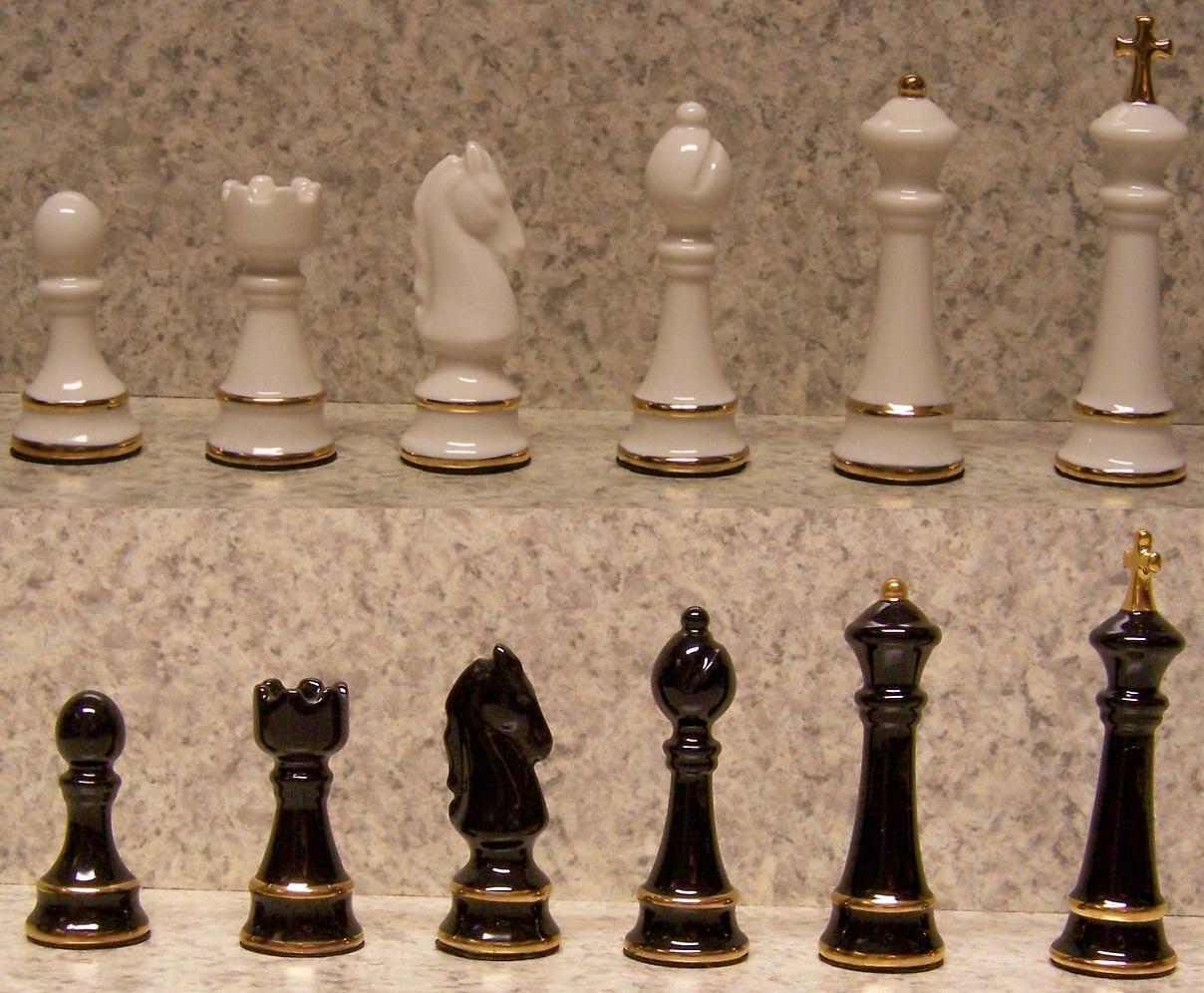 Gold Chess Pieces Directory Inventory Chessmen