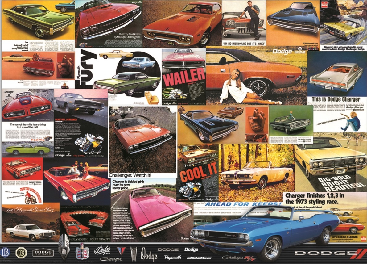 Piece Ad Jigsaw Puzzle Car Vintage Dodge Ad Posters 1000 Piece New