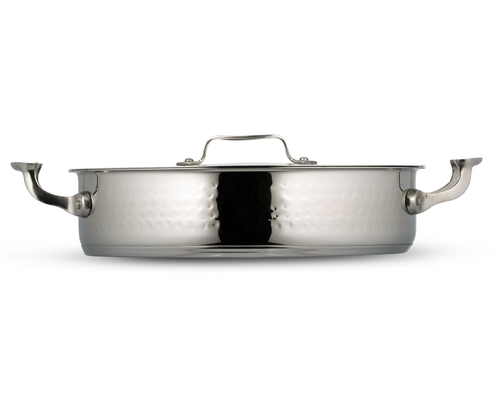 Cucina Wok Bon Chef 60030hf Cucina Stainless Steel Pot With Cover Hammered