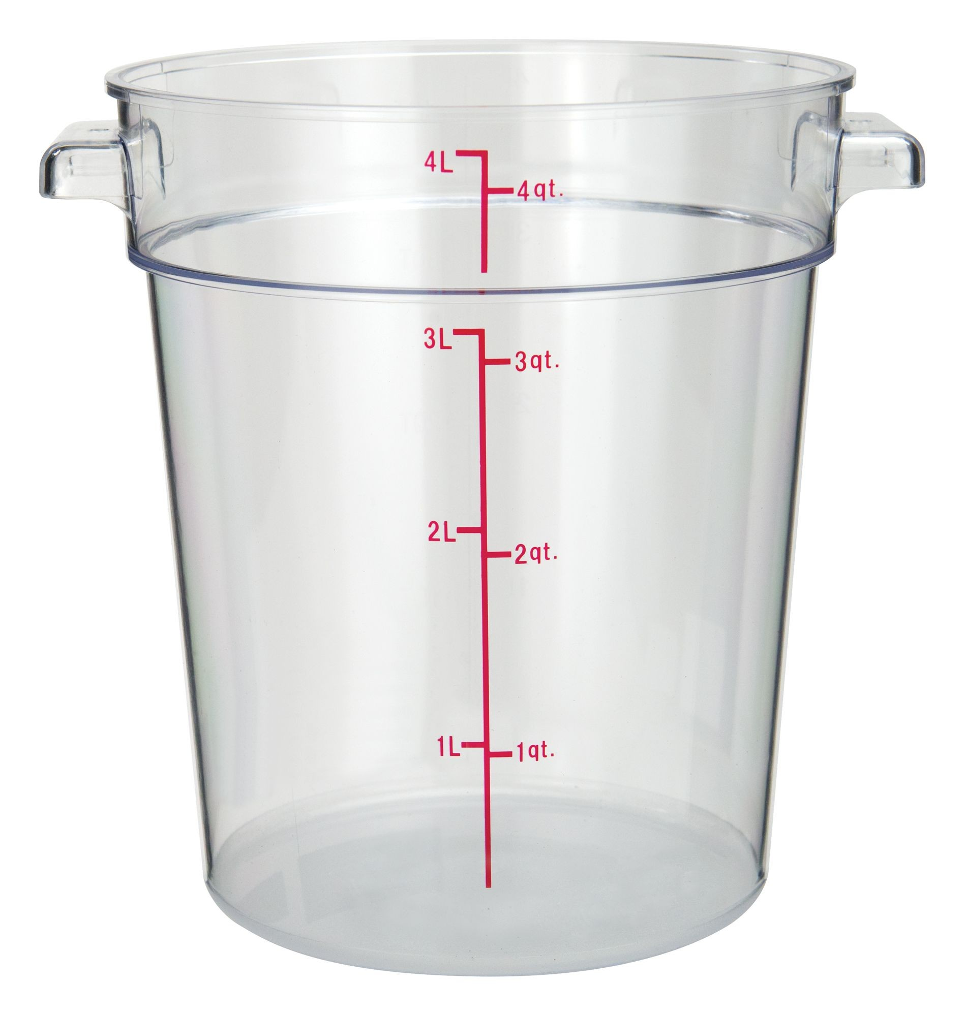 Pc Round Storage Container 4qt Lionsdeal