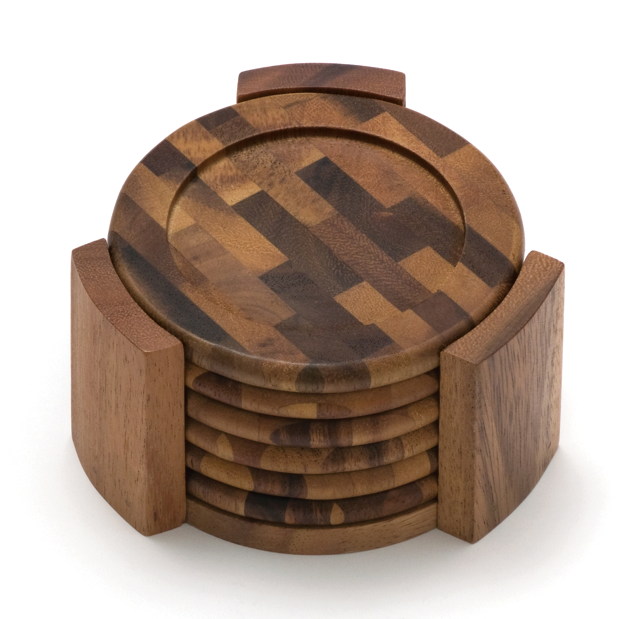 Wood Coaster Holder All Collections Lipper International Inc