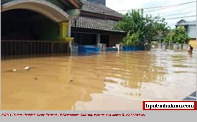 foto kubil banjir bks
