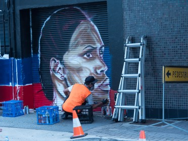 Cathy Freeman Mural Comes Alive