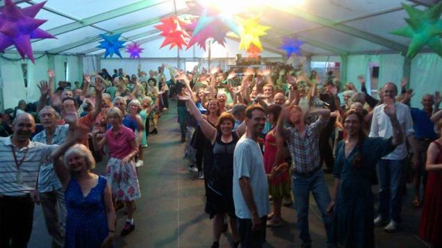 Happy Dancers at Sidmouth Folk Week!