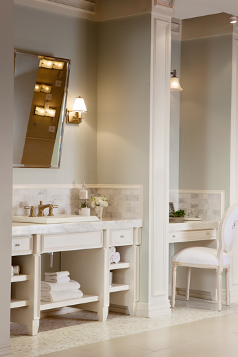Showroom powder room interior design