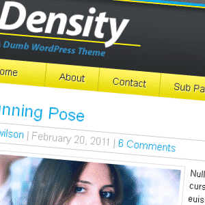 Density Theme a free theme by Matt Danner of iThemes for WordPress For Dummies 4th Edition