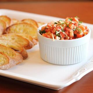Tomato Bruschetta on Crostini and a Guest Post