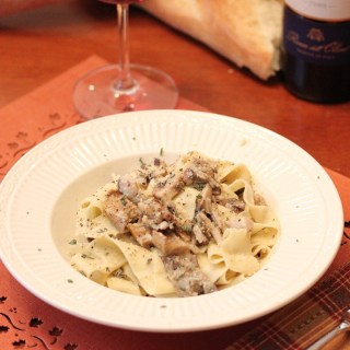 Homemade Pappardelle with Mushroom Sauce for Saturday Date Night