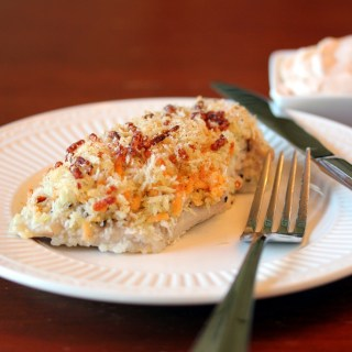 Baked Cheddar Ranch Chicken with Spicy Ranch Dip