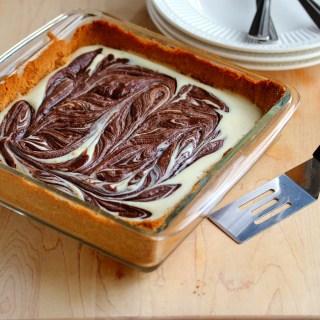 Chocolate Swirl Cheesecake Bars