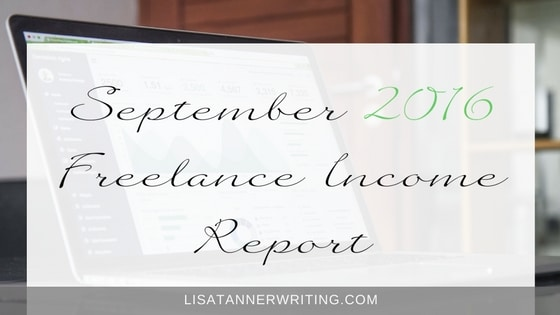 September 2016 Freelance Income Report