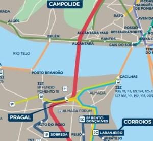 Afficher carte réseau Fertagus