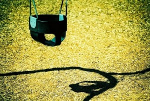 at the playground: child-free