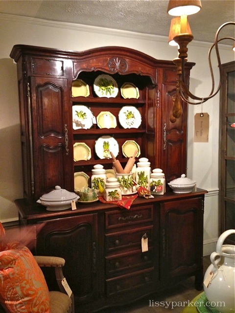 Beautiful small China cabinet-looks great wtih Eve Gorden veggies