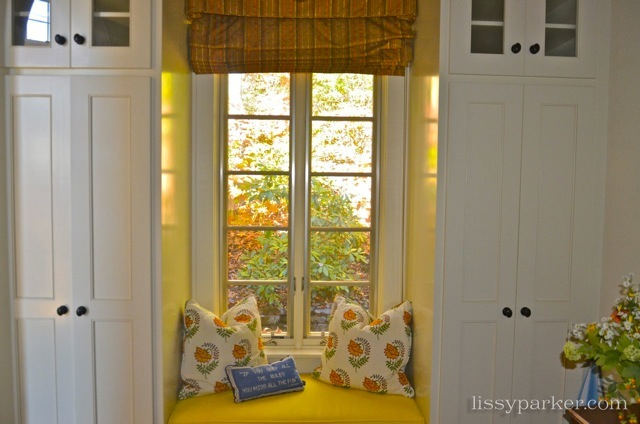 Lots of storage around this window seat in the entry