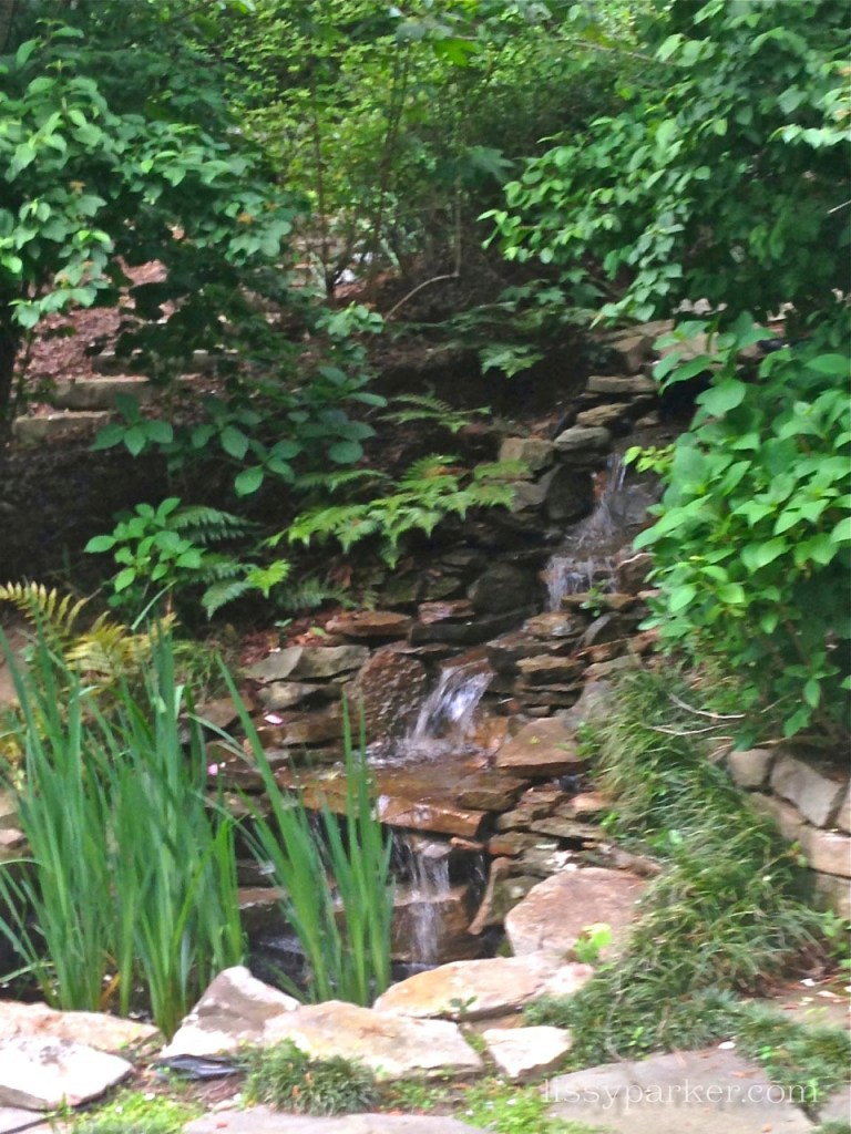 Running water is calming and blocks the city noises