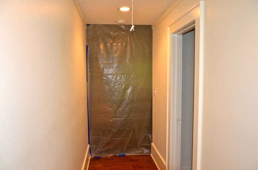 The master bedroom has been hermetically sealed—vents too