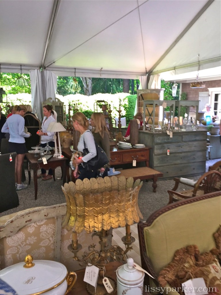 Welcome to the tent sale in the garden