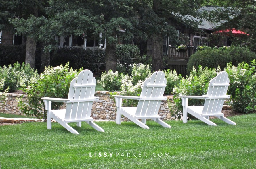 Adirondacks are just the thing for this lawn