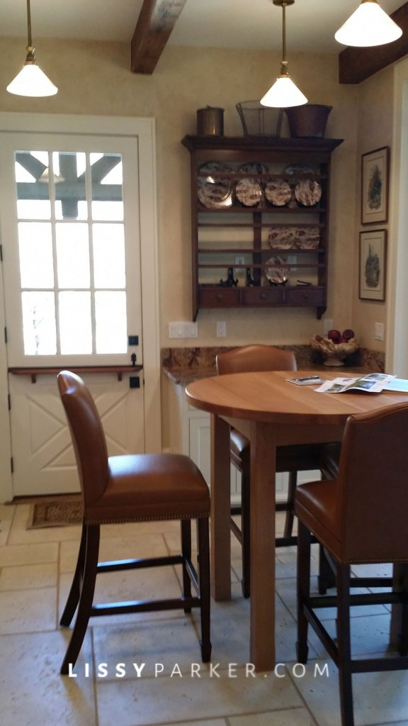 Custom round table and leather chairs