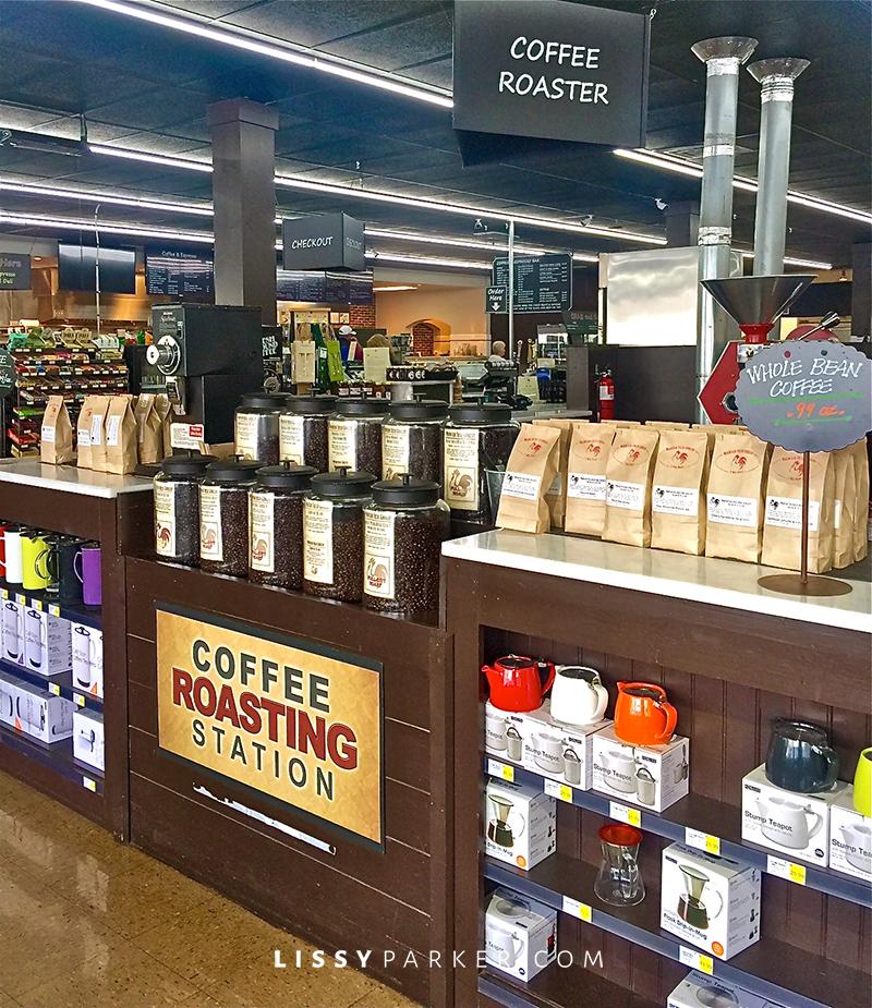 coffee varities on display