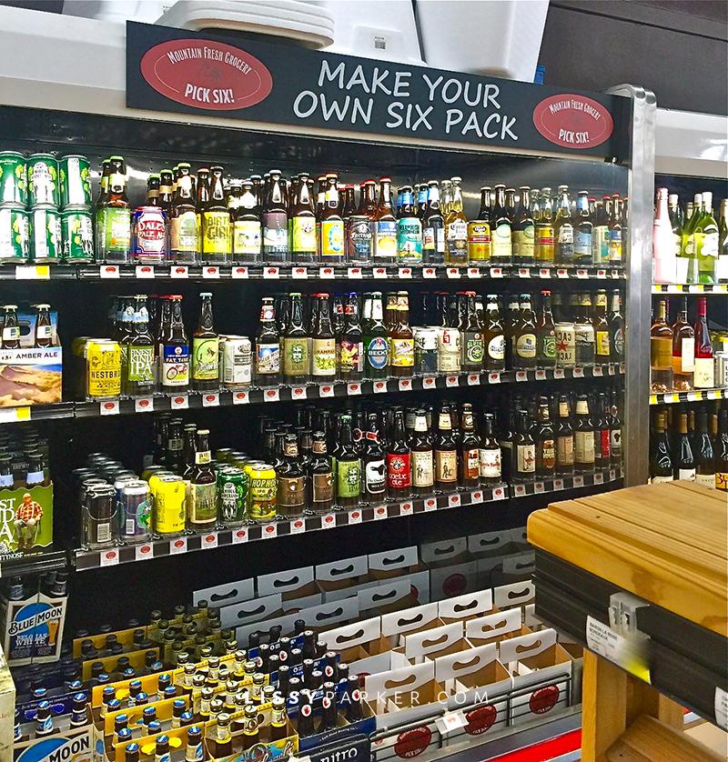 display of artisan beer