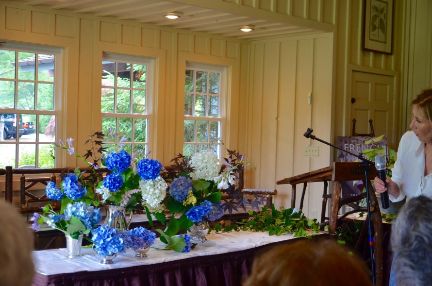 Blue hydrangea flower arrangements