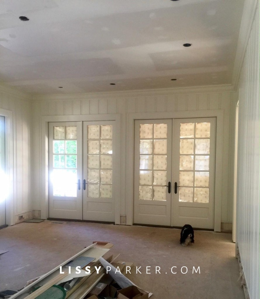 french doors to screened porch.