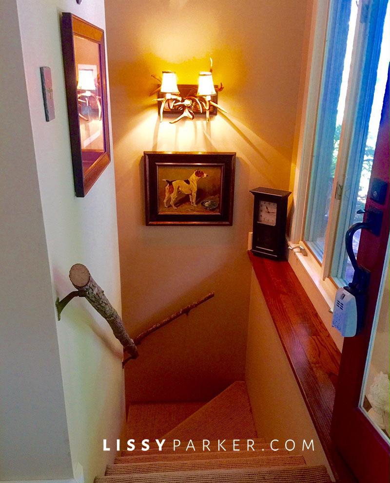 rustic stair rail