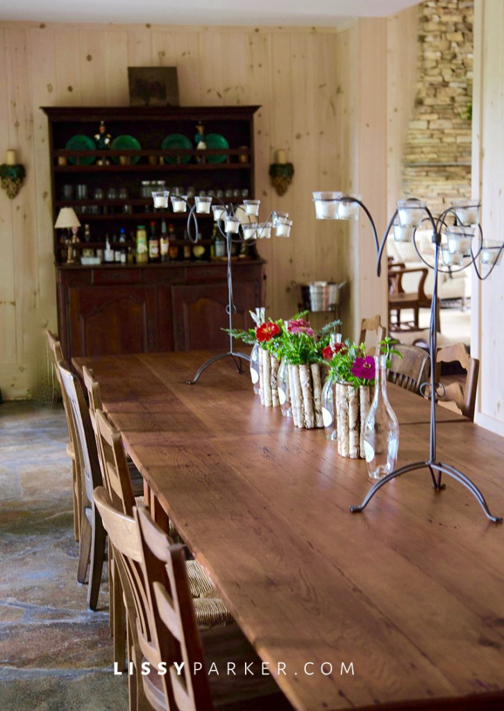 large dinning table for parties