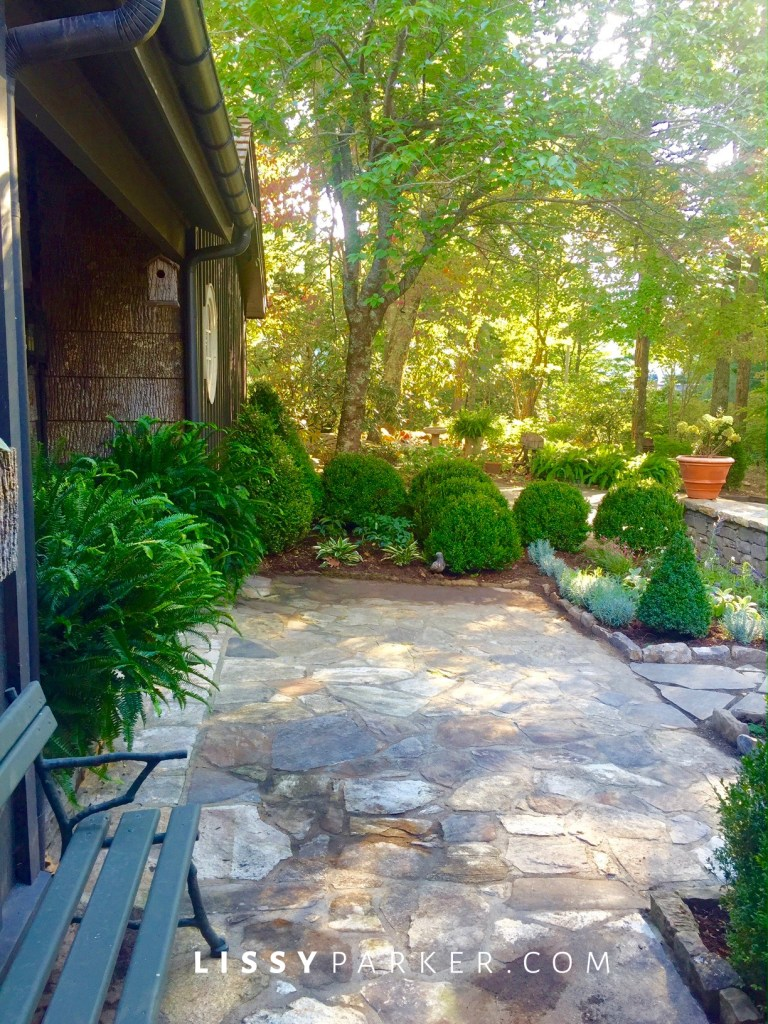 entry garden stone patio