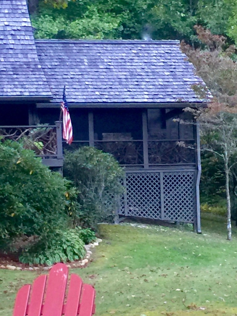 screened porch on the mountain cottage