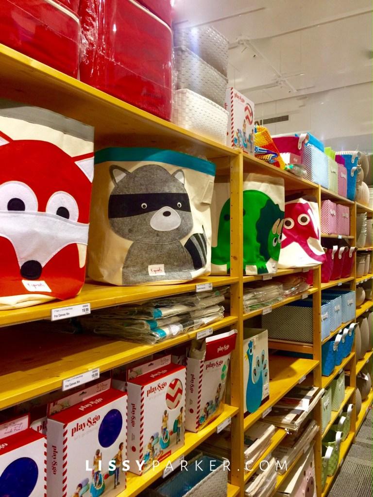 Animal toy storage bins