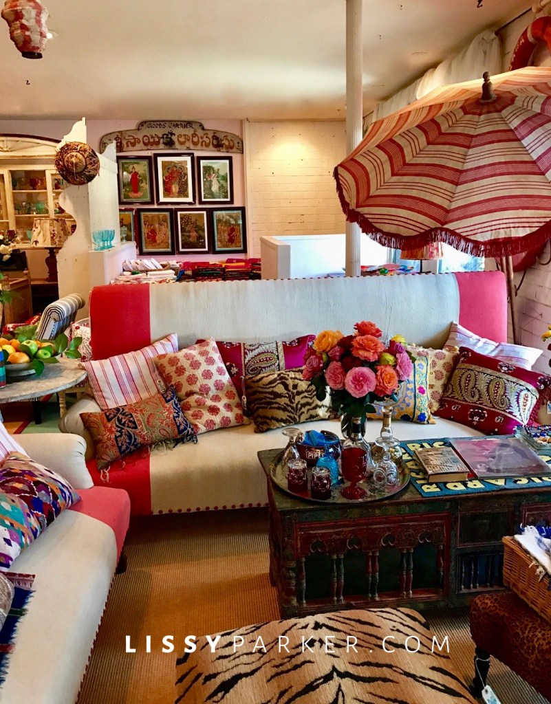 red and aqua sofa-alfresco