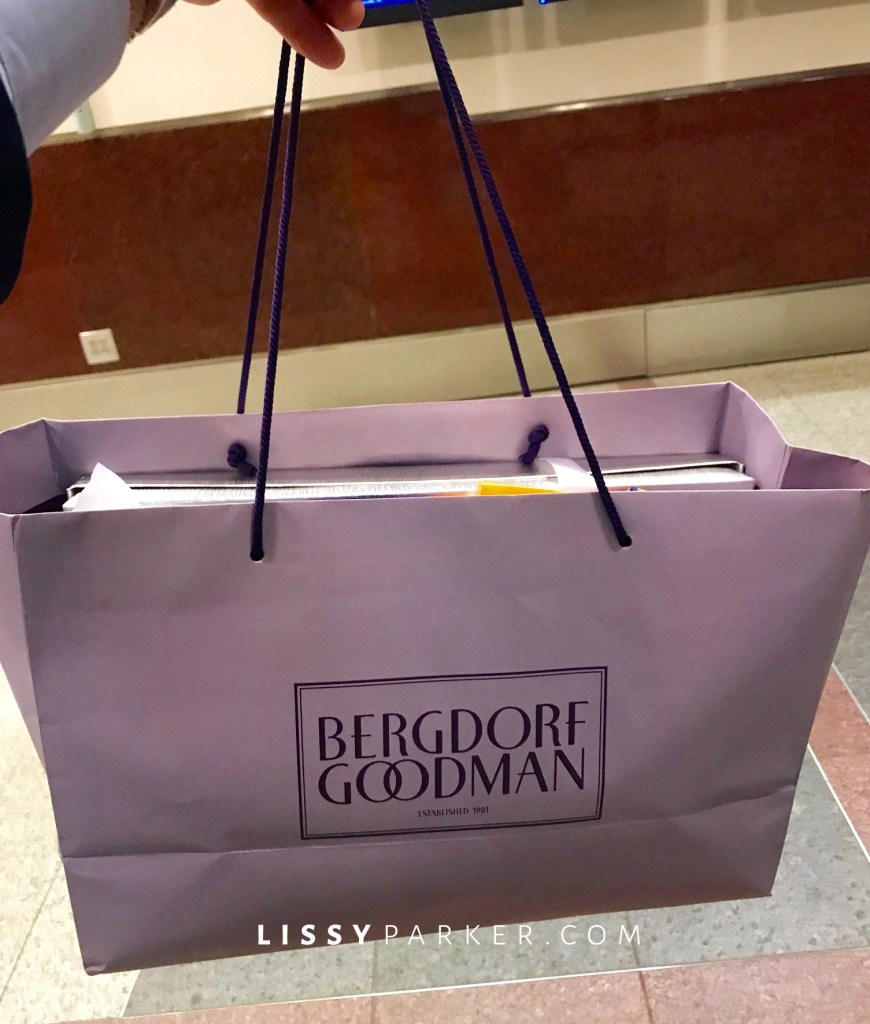 Bergdorf's shopping bag