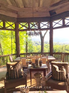 mountain porch and view