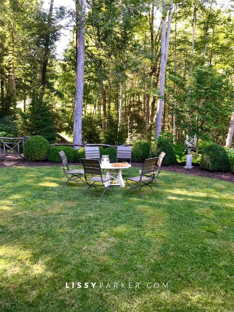shaded yard