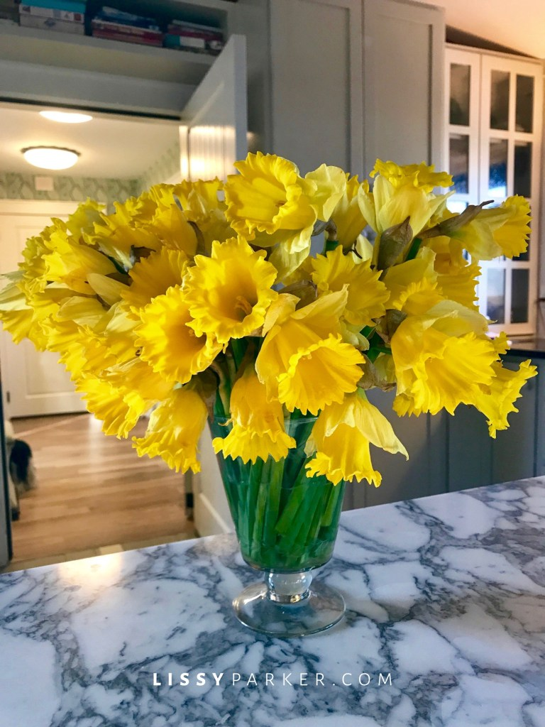 yellow daffodils DIY