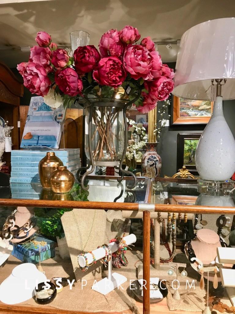 pink flowers, jewelry