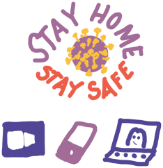 Diagram: Stay Home, Stay Safe