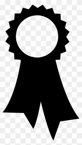 Award Ribbon Outline Free Clip Art Coloring Page Prize - Award